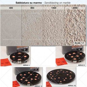 Sabbiatura su marmo ABRAX